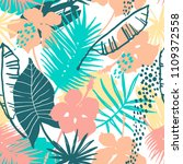 seamless exotic pattern with... | Shutterstock .eps vector #1109372558