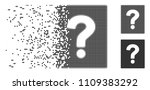 grey vector help icon in... | Shutterstock .eps vector #1109383292