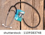 stethoscope and credit cards.... | Shutterstock . vector #1109383748