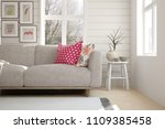 white room with sofa and winter ... | Shutterstock . vector #1109385458