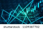 global financial and economy as ... | Shutterstock . vector #1109387702