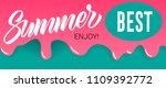 summer  best  enjoy lettering...   Shutterstock .eps vector #1109392772