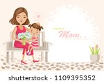 happy mother's day poster.... | Shutterstock .eps vector #1109395352
