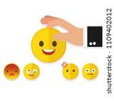 happy customer satisfaction... | Shutterstock .eps vector #1109402012