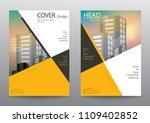 annual report brochure flyer... | Shutterstock .eps vector #1109402852