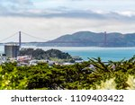 bay area view over long san... | Shutterstock . vector #1109403422