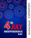 vector 4th july independence... | Shutterstock .eps vector #1109405555