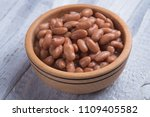 cooked white kidney beans ready ... | Shutterstock . vector #1109405582