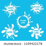 milk emblems and dairy labels... | Shutterstock .eps vector #1109422178