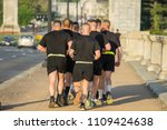 morning exercise in washington... | Shutterstock . vector #1109424638