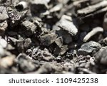 Small photo of Top view of a coal mine mineral black for background. Used as fuel for industrial coke