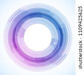 geometric frame from circles ... | Shutterstock .eps vector #1109425625