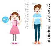 girl drinking milk for health.... | Shutterstock .eps vector #1109435822