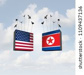 united states and north korea... | Shutterstock . vector #1109437136