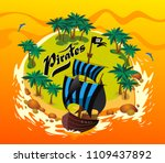 island of pirates  pirate bay ... | Shutterstock .eps vector #1109437892