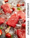 ice popsicles. strawberry ice... | Shutterstock . vector #1109438645