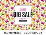 abstract summer sale background ...   Shutterstock . vector #1109439305