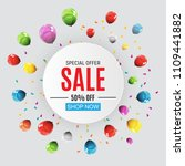 abstract designs sale banner... | Shutterstock . vector #1109441882