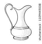beautiful traditional jug.... | Shutterstock .eps vector #1109445038