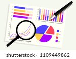 pen and magnifying with... | Shutterstock .eps vector #1109449862