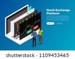 flat design concept stock... | Shutterstock .eps vector #1109453465