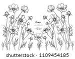 sketch floral botany... | Shutterstock .eps vector #1109454185