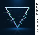 geometrical glitched banner .... | Shutterstock . vector #1109458355