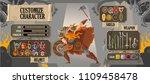 videogame ui customize viking...