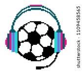 ball white headphone | Shutterstock .eps vector #1109458565
