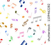 white musical background with... | Shutterstock .eps vector #1109462282
