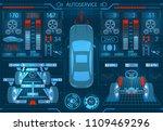 car service. scanning....   Shutterstock .eps vector #1109469296