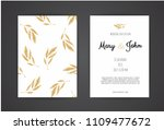 golden vector invitation with... | Shutterstock .eps vector #1109477672