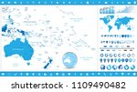 australia and oceania map and... | Shutterstock .eps vector #1109490482