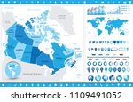 canada map and infographic... | Shutterstock .eps vector #1109491052