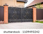 automatic forged gate | Shutterstock . vector #1109493242