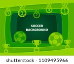 soccer 3d abstract background...   Shutterstock .eps vector #1109495966