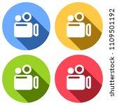 simple video camera icon. set...
