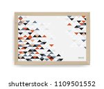 wooden photo frame with... | Shutterstock .eps vector #1109501552