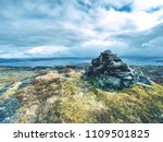 stones pyramid on gravel... | Shutterstock . vector #1109501825