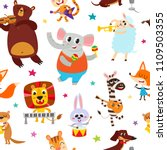 cute adorable animals character ... | Shutterstock .eps vector #1109503355