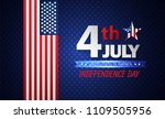 fourth of july independence day.... | Shutterstock .eps vector #1109505956