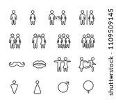 vector image set of men and...   Shutterstock .eps vector #1109509145