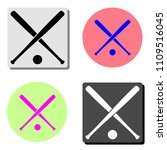 crossed baseball bats and ball. ... | Shutterstock .eps vector #1109516045