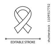 anti hiv ribbon linear icon.... | Shutterstock .eps vector #1109517752