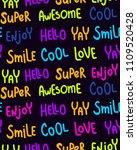 vector seamless pattern  neon...   Shutterstock .eps vector #1109520428