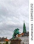 Small photo of Portrait view of the Bishop Absalon Statue in Copenhagen, Denmark.