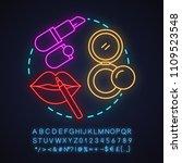 makeup salon neon light concept ... | Shutterstock .eps vector #1109523548