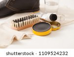 shoe care cream. use of eco...   Shutterstock . vector #1109524232