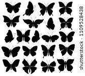 black silhouettes of... | Shutterstock .eps vector #1109528438