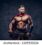 brutal ancient greece warrior... | Shutterstock . vector #1109533226